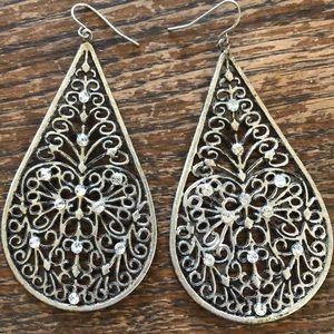 Jewelry - Festive Boho Mandala style metal drop earrings